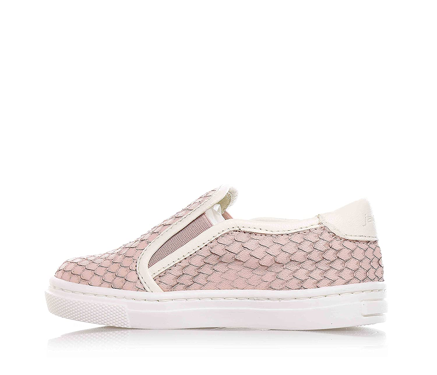 JARRETT - Rose slip on made of leather, characterized by the use of high  quality materials and refined hides, with lateral elastic inserts, rear logo,  Child ...