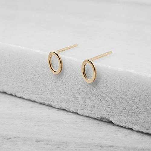 9c28ece55 Gold Oval Earrings, Oval Stud Earrings, 9k, 14k, 18k Yellow Gold Earrings,  Gold Oval Studs, Everyday Solid Gold Earrings, Gift For Her, ...