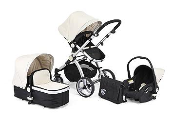 Carrera en blanco y negro Sport 3 en 1 bebé sistema de viaje/carrito/cochecito de bebé/cochecito/carrito: Amazon.es: Bebé