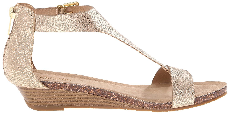 Kenneth Cole REACTION Women's Great Gal Wedge Sandal B015GIH32I 7 B(M) US|Soft Gold