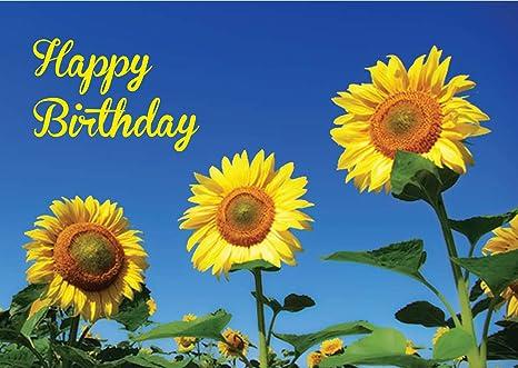 Amazon.com: Tarjeta de cumpleaños. El Mensaje de girasol ...