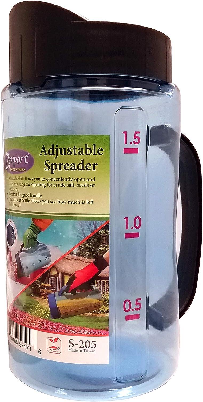 Zenport Fertilizer Adjustable Garden Spreader S-205 for Snow Melt, Seeds or Ferti, Blue
