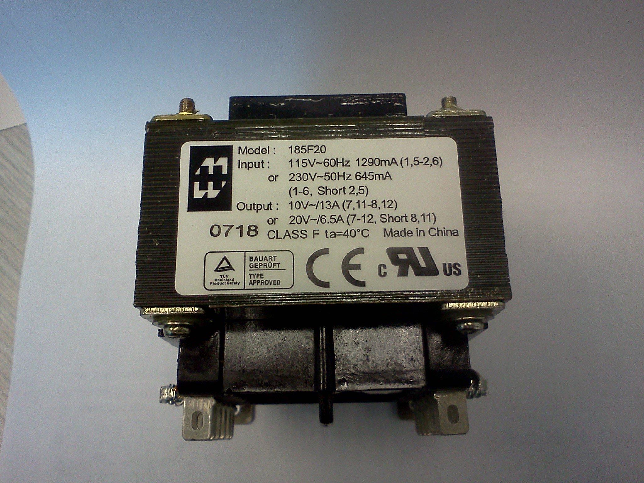 Hammond 185F20 Power Transformer 115/230VAC Input 10V/20V Output (Box of 6 units)