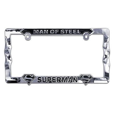 Elektroplate Superman Man of Steel 3D Metal License Plate Frame: Automotive