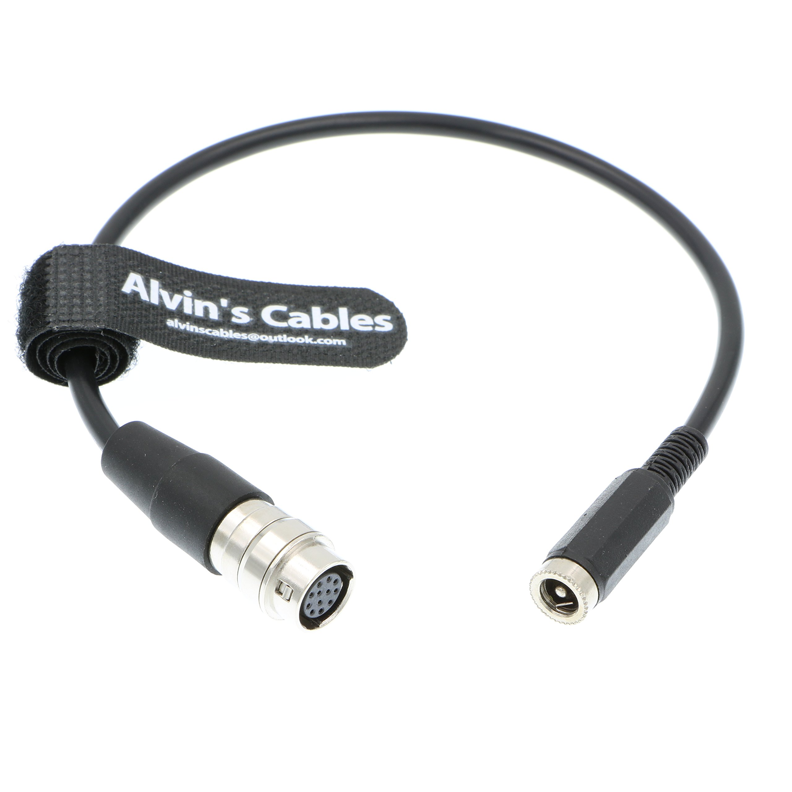 12 Pin Hirose to DC 12v Female Cable GH4 Power B4 2/3''Fujinon Nikon Canon Lens by Alvin's Cables