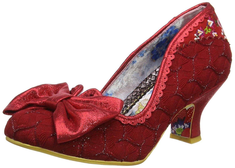 Irregular Choice Always Smile - Zapatos de Tacón con Punta Cerrada Mujer 43 EU Rojo (Red B)