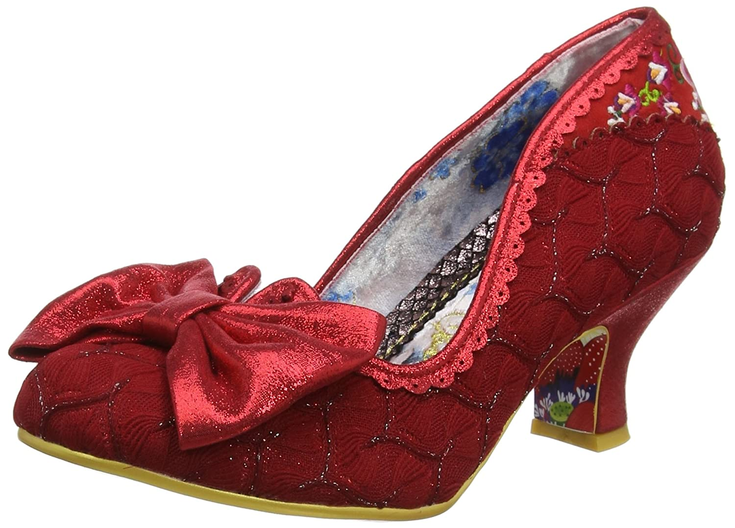 Irregular Choice Damen Always Smile Pumps, Schwarz Rot (ROT B)