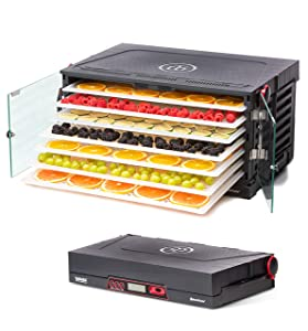 SAHARA Folding Food Dehydrator, Beef Jerky, Fruit Leather, Vegetable Dryer by Brod & Taylor (Polypropylene Shelves)