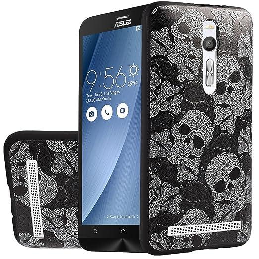 10 opinioni per MOONCASE Asus ZenFone 2 ZE551ML Case, [Skull] Creative 3D morbida TPU Custodia