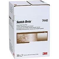 "Scotch-Brite 65055 Heavy Duty Hand Pad 7440, 6"" x 9"", 6"" Width"
