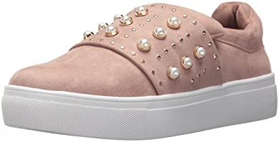 STEVEN by Steve Madden Women's Deylin Sneaker, Blush, 5.5 Medium US
