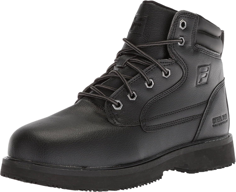 Fila Men's Landing Steel Slip Resistant Industrial Work Boot Food Service Shoe