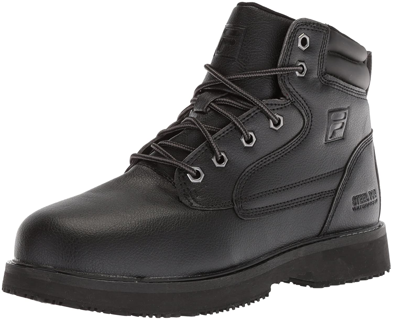 Fila メンズ LANDING STEEL SLIP RESISTANT ブラック/ブラック/ブラック 9 D(M) US 9 D(M) USブラック/ブラック/ブラック B0779K6F66