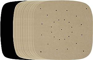 Air Fryer 100pcs Parchment Paper Compatible with Costzon, Cosori, Chefman, Emeril Lagasse, Enklov, Gourmia, Willsence, BCP, Kuppet +More | Square Paper Liners