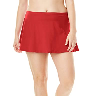 5a429b50ab Amazon.com: Swimsuits For All Women's Plus Size Swim Skirt: Clothing