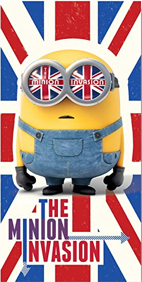 Despicable Me Minions Union Jack Serviette de Plage: Amazon.fr ...