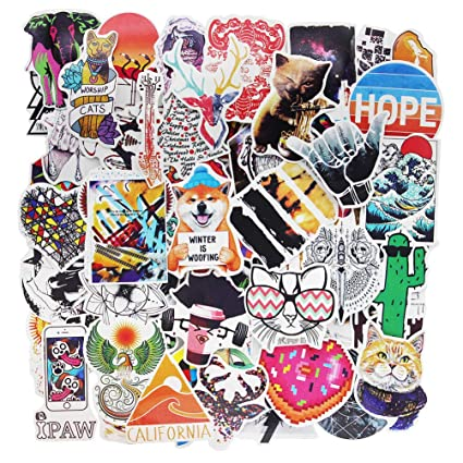 58e1698b1470 Cute Stickers Pack for Teen Girls Vinyl Cartoon Laptop Decals Bumper  Skateboard Luggage Computer Bike Waterproof Graffiti 100 Pieces