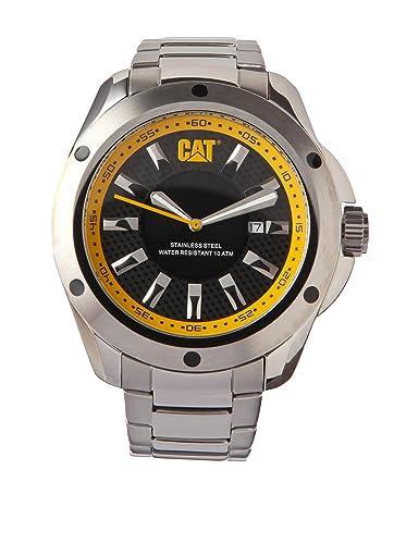 Caterpillar YQ.141.11.124 - Reloj de pulsera hombre, acero inoxidable, color plateado: Amazon.es: Relojes