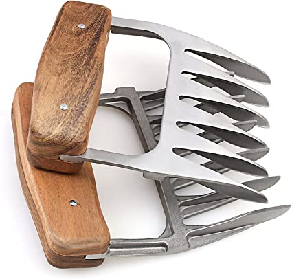 2 Set Meat Shredding Claws Stainless Steel Metal Pulled Pork Boar Barbecue