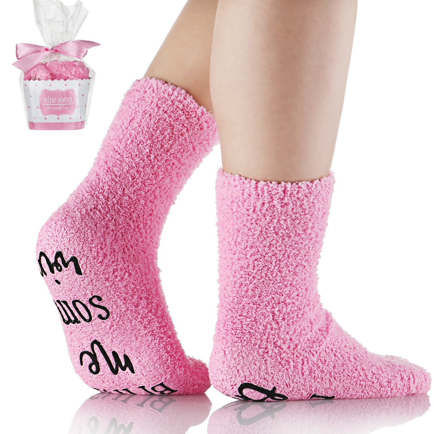 Wine Socks With Funny Words If You Can Read This,Cupcake Gift Packaging,Valentine's Day,Mother's Day,Christmas Day,Birthday,Anniversary,Gifts for Women,Mom,Her,Wife,Sister,Friends,Teacher by Angel Lover