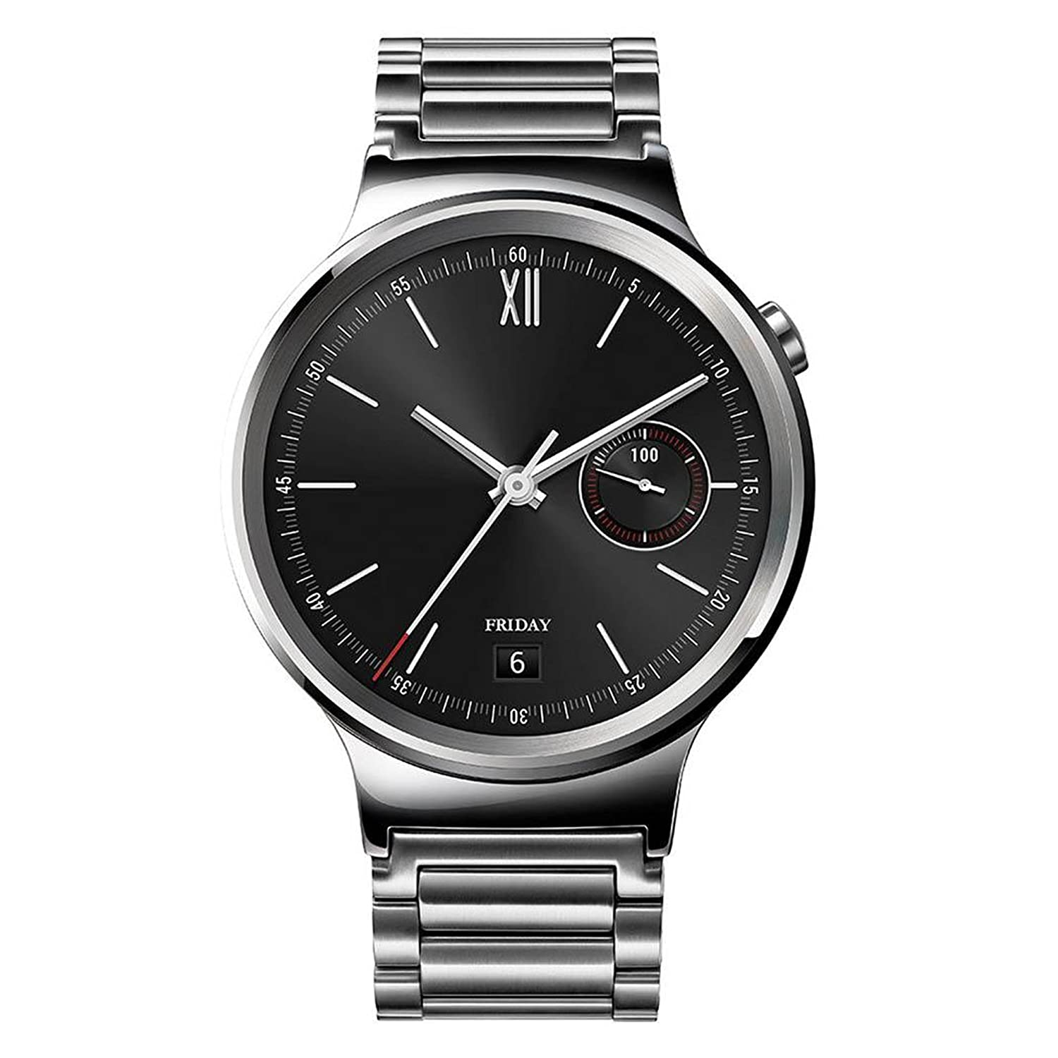 Huawei Watch Stainless Steel with Stainless Steel Link Band (US Warranty)