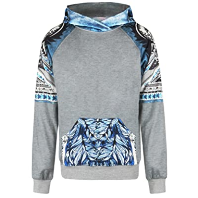SEVENWELL New-Fashioned Unisex Digital Print Pullover Hoodie Men Casual Hooded Sweatshirt with Big Pocket S-L