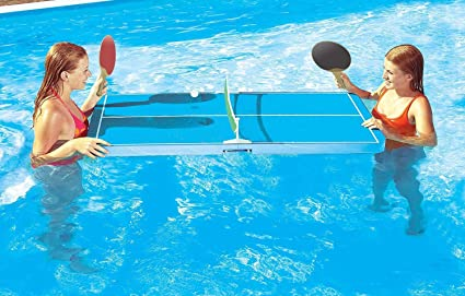 Amazoncom Floating PingPong Table Swimming Pool Game Use In Or - Billiards ping pong table