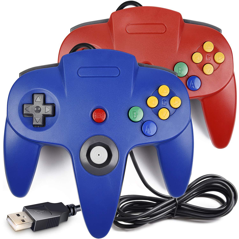 Amazon com: [USB Version] 2 Pack Classic N64 Controller