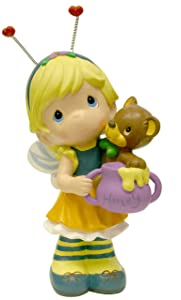 Precious Moments Design International Group Bee Fairy with Teddy Bear Statue, 12-Inch