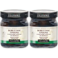 FRAMORE, Onions Borettane in balsamic vinegar 10.2 Ounce pack of two Imported from Italy