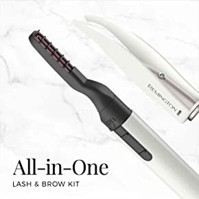 Remington Reveal Lash & Brow Kit, Heated Eyelash Curler