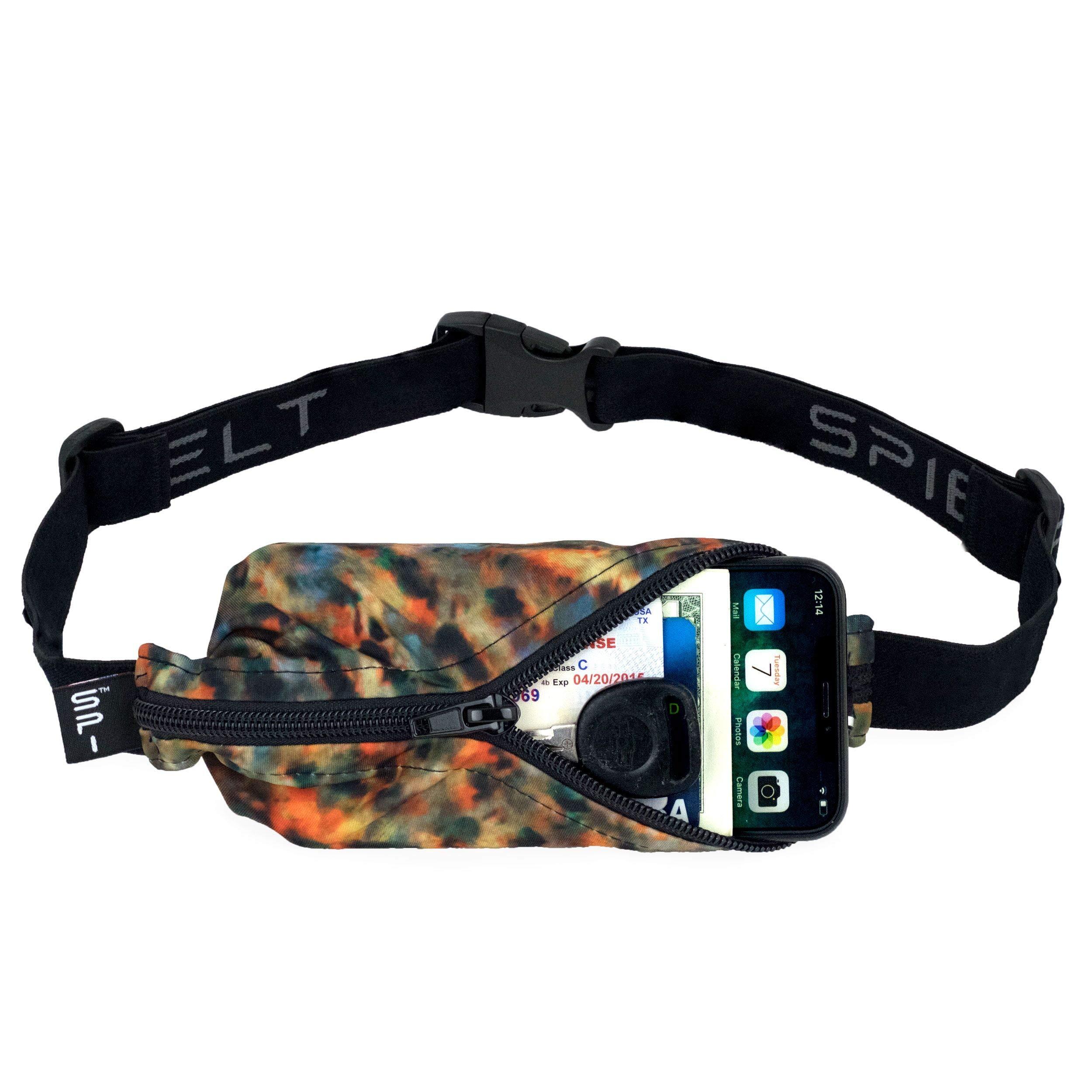 SPIbelt Running Belt: Adult Large Pocket - No-Bounce Running Belt for Runners, Athletes and Adventurers (Tiger's Eye with Black Zipper, 25'' Through 47'') by SPIbelt