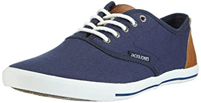 JACK & JONES JJSPIDER Urban Canvas Sneaker, Herren Sneakers, Blau (Dress  Blues)