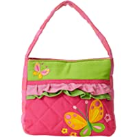 Stephen Joseph Girls 2-6x Quilted Purse & Coin Purse Butterfly,Purple/Hot Pink,One Size