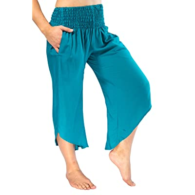 c137803ce4 PIYOGA Women's Boutique Lounge and Yoga Pants, Elastic Waistband and Flare  Capri (One Size fits US W Size 0-12)