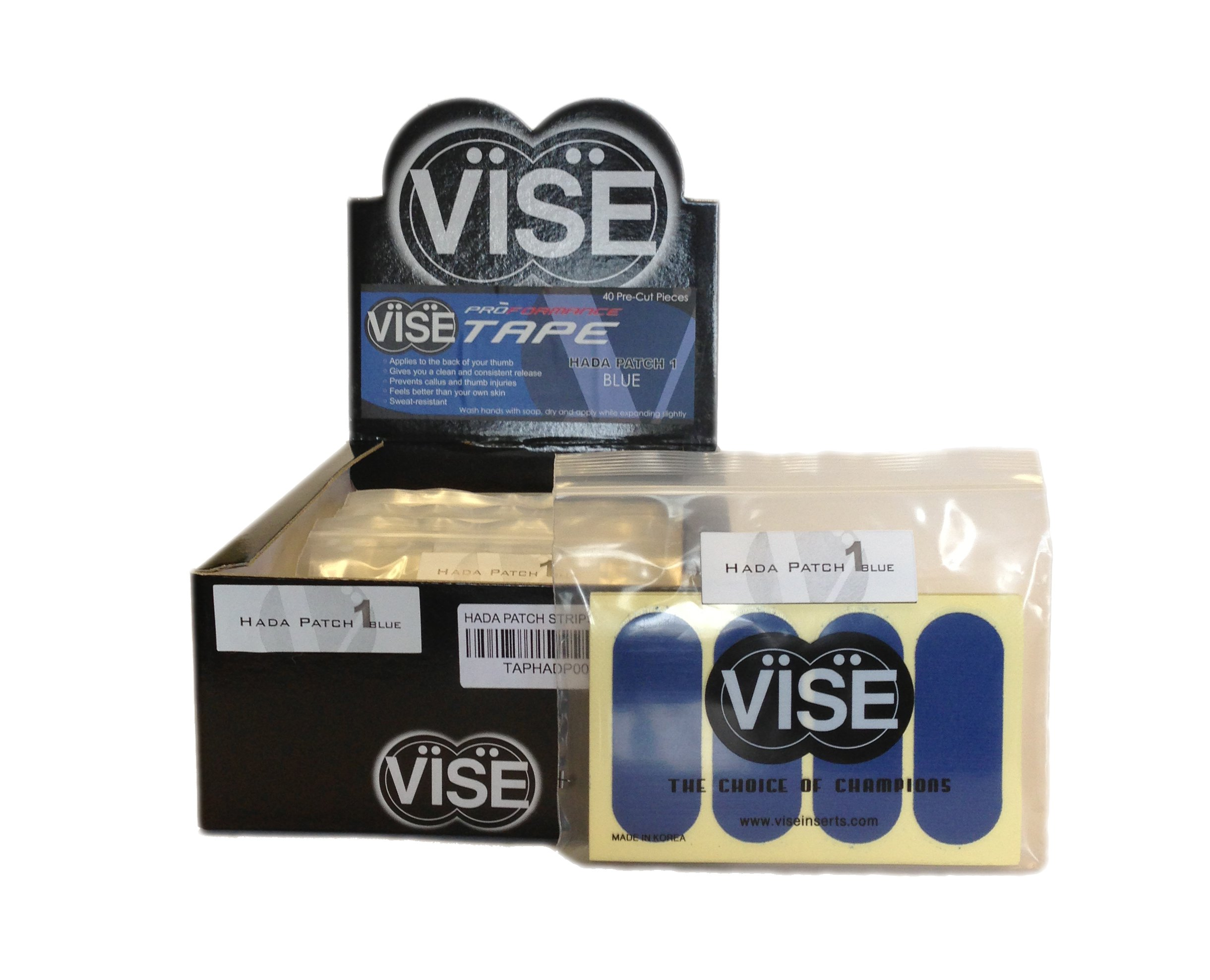 Vise Hada Patch Pre-Cut Tape (Pack of 12), Blue by Vise