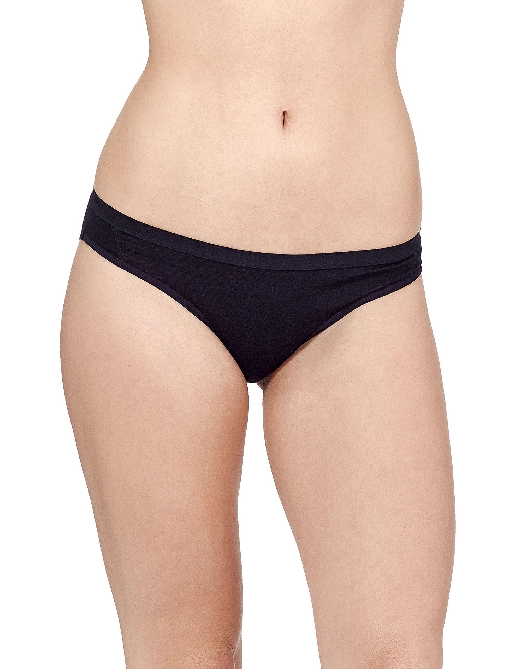 Icebreaker Merino Women's Siren Bikini, Black, X-Small, Black/Black by Icebreaker Merino