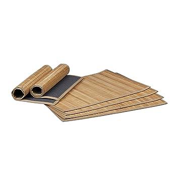 Untersetzer Tischset Platzset 45,5 x 30,5 cm Holzoptik hellbraun abwaschbar PVC