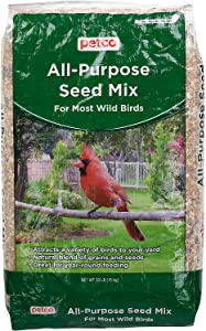 Petco All Purpose Seed Mix Wild Bird Food, 33 lbs