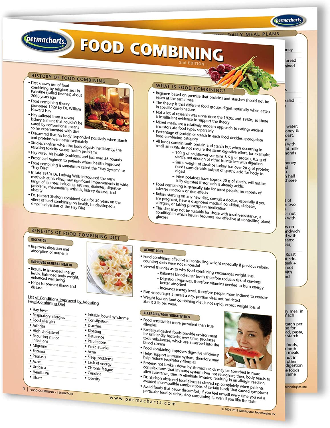 Food Combining Guide - Cooking Quick Reference Guide by Permacharts