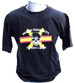 Camiseta BRIPAC Calavera Bandera ESPAÑA Centro - Superior Talla L ...