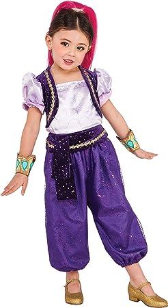 Shimmer & Shine - Disfraz Deluxe violeta para niña, infantil XS (2 ...