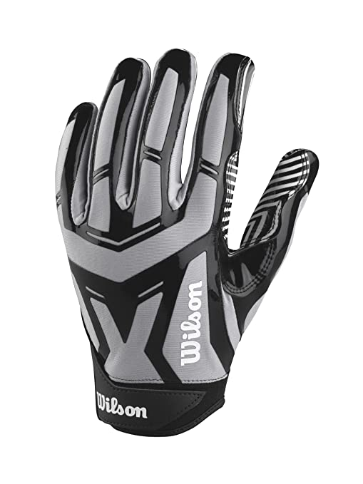 buy online de884 e3f53 Wilson Adult Authority Skill Receivers Gloves, Grey Black, XX-Large