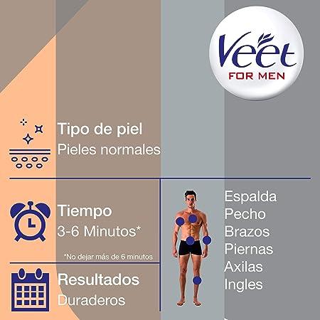 Veet for Men Crema Depilatoria Corporal para Usar Bajo la Ducha para Hombre, Piel Normal, 150 ml