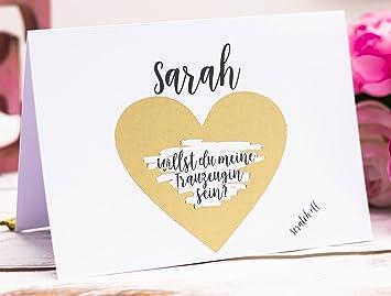 Happy Wedding Art Karte Willst Du Meine Trauzeugin Sein Rubbelkarte
