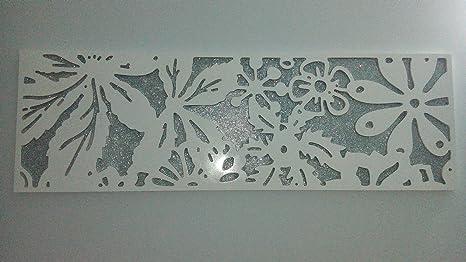 Murale da parete quadro moderno arredo casa in legno bianco
