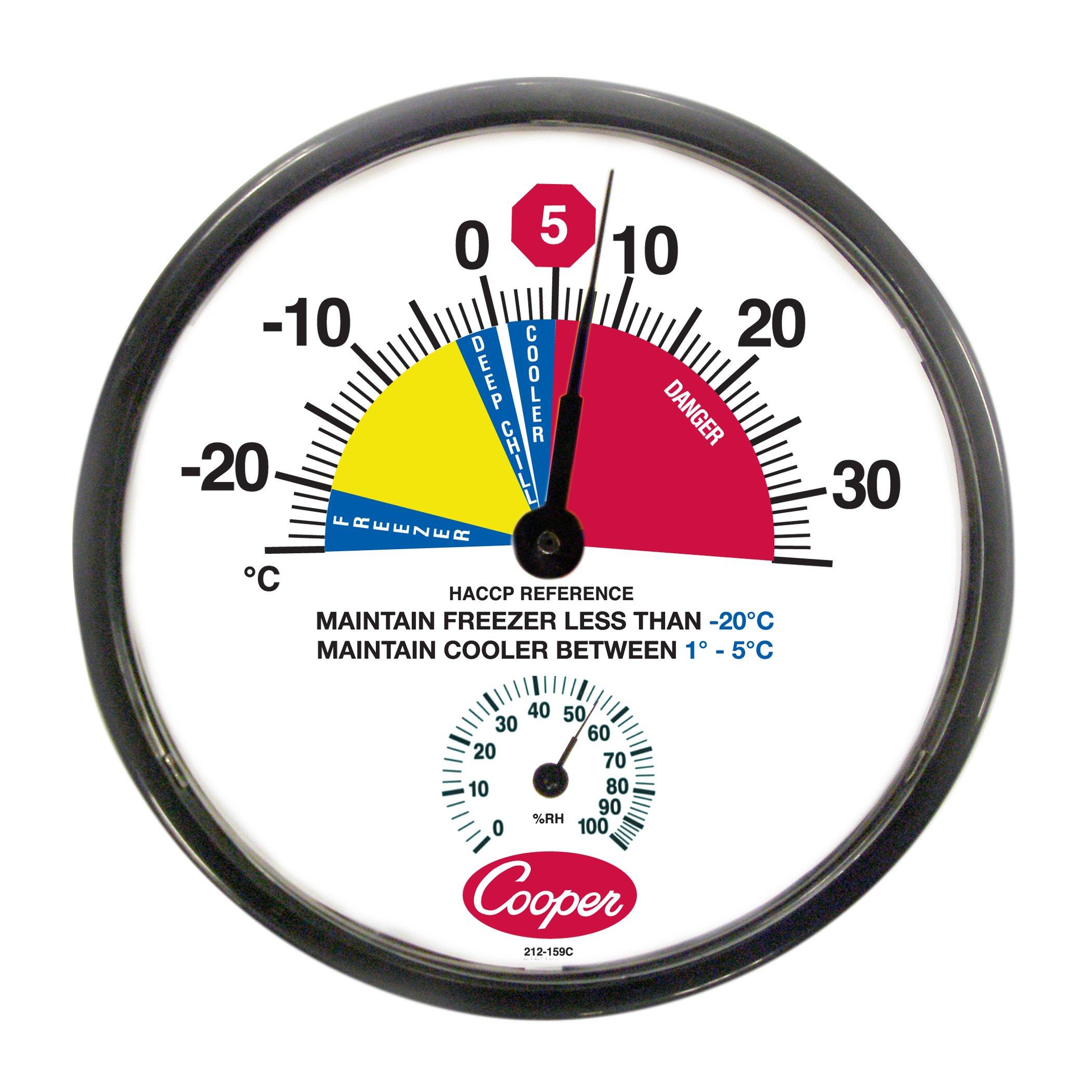 Cooper-Atkins 212-159C-8 Bi-Metals HACCP Cooler/Freezer Thermometer, -25 to 35 degrees C Temperature Range