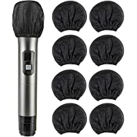 200 Pcs Disposable Microphone Cover Non-Woven Handheld Microphone Windscreen Protective Cap for Recording Room, KTV and…