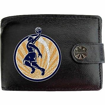 381a37b34433 BasketBall Player Joueur de basket-ball Klassek Portefeuille Homme Porte  Monnaie Cuir Noir Véritable Cadeau