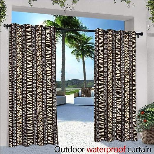 Cortina de privacidad para pergola con Rayas para Exteriores, con Aislamiento térmico, Repelente al Agua, para balcón: Amazon.es: Jardín
